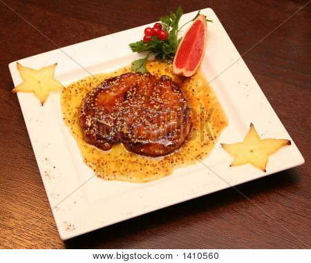 Romsteaks With Honey-Mustard Crust