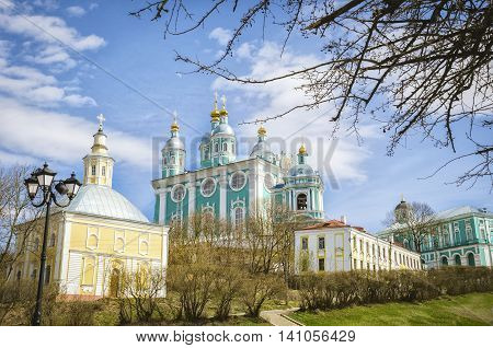 Holy assumption Cathedral. Smolensk. Russia. Sunny day