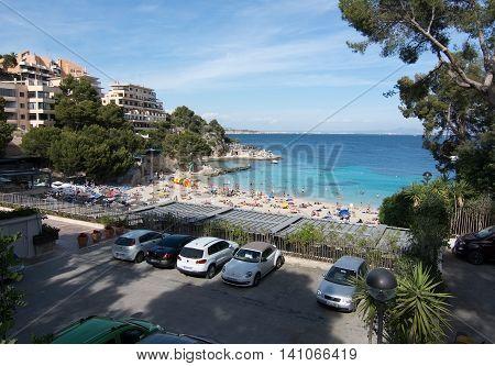 Illetas Beach And Parking