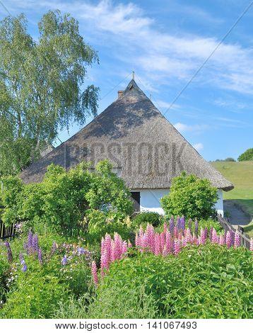 the oldest House on Ruegen Island in Gross Zicker,baltic Sea,Mecklenburg western Pomerania,Germany