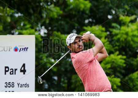 CHONBURI - JULY 31 : Gaganjeet Bhullar of India in King's Cup 2016 at Phoenix Gold Golf & Country Club Pattaya on July 31 2016 in Chonburi Thailand.
