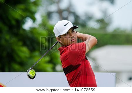 CHONBURI - JULY 31 : Miguel Tabuena of Philippines in King's Cup 2016 at Phoenix Gold Golf & Country Club Pattaya on July 31 2016 in Chonburi Thailand.