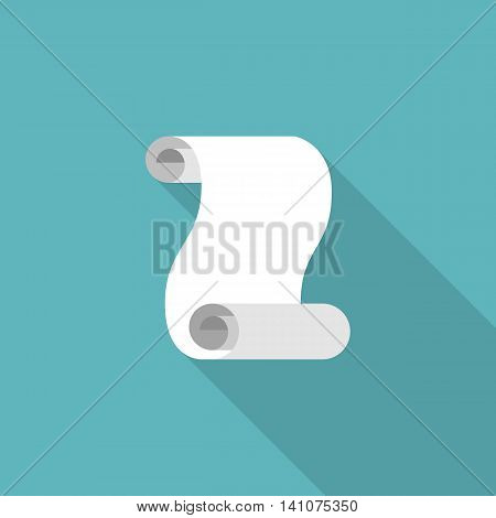 vintage scroll icon vector, flat design with long shadow