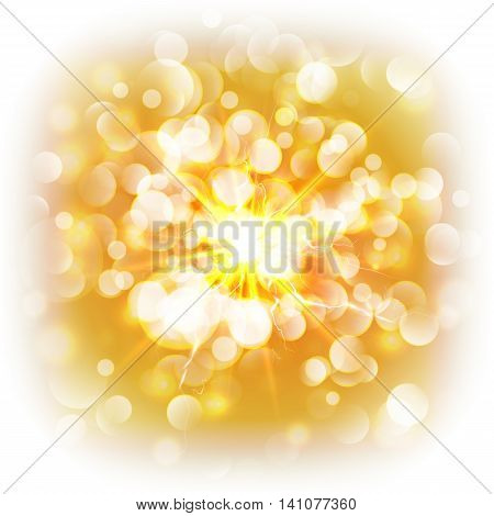 Abstract background with a bright flash glare without borders on a white background.