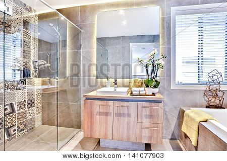 Luxury Bathroom With A Washing Area And Shower