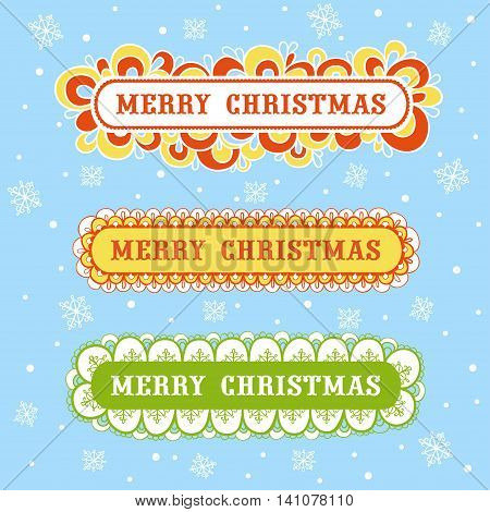 Vector illustration. Christmas card with textbox. Christmas card with textbox.