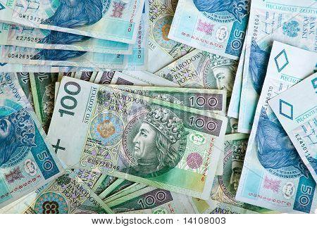 Polish zloty paper money