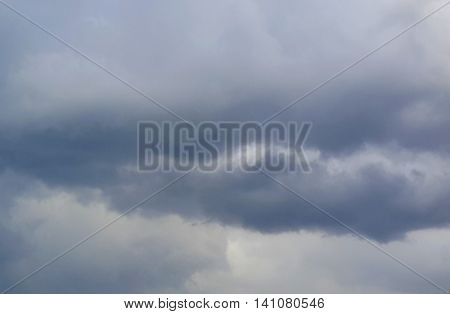 gray and white cumulus clouds in the sky, Songkhla, Thailand