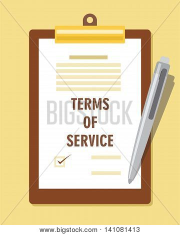 terms of service agreement contract vector illustration