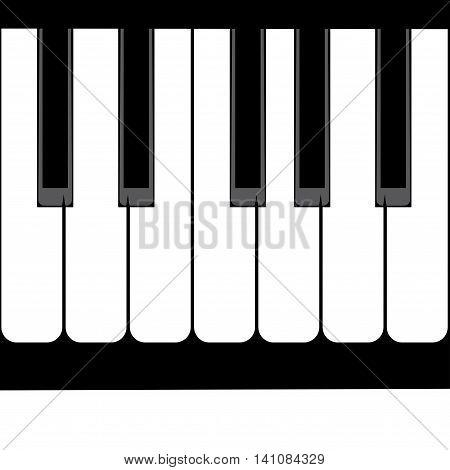Piano Keyboard Illustration