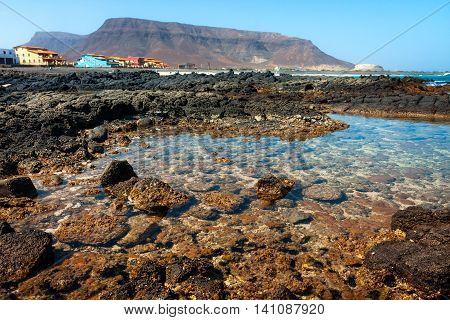 Sao Vicente rocky beaches. Cape Verde in Africa