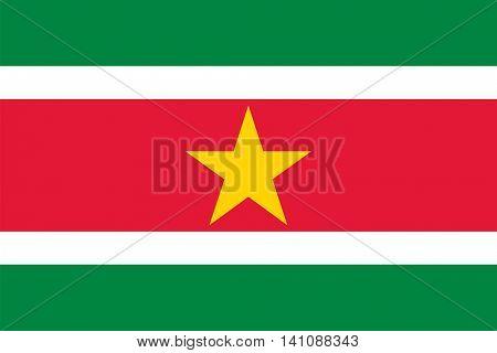 Vector Suriname national flag