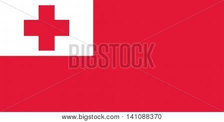Vector Kingdom of Tonga flag