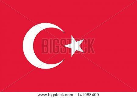 Vector Turkey flag