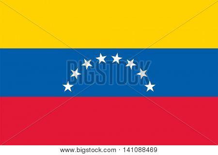 Vector Bolivarian Republic of Venezuela flag