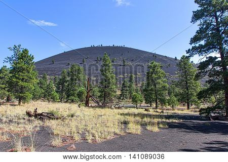Sunset Crater, a cinder cone volcano located north of Flagstaff, Arizona