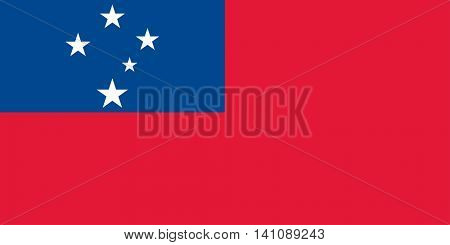 Vector Samoa national flag