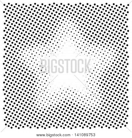 Abstract halftone backgrounds. Vector illustration. Star shape mask.