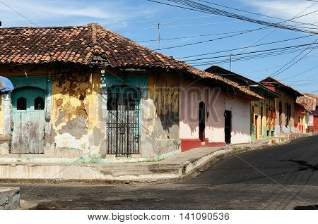 Central America Leon - the colonial Spanish city in Nicaragua has the larges cathedral in Central America and the colorful architecture