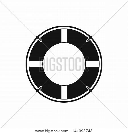 Lifeline icon in simple style isolated on white background. Help in rescue symbol