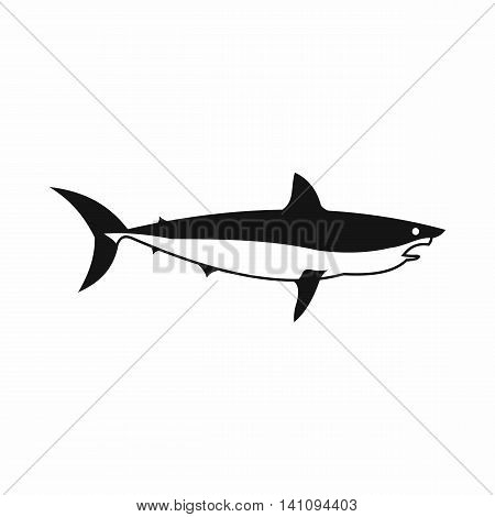 Shark icon in simple style isolated on white background. Fish symbol