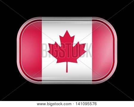 Flag Of Canada. Rectangular Shape With Rounded Corners