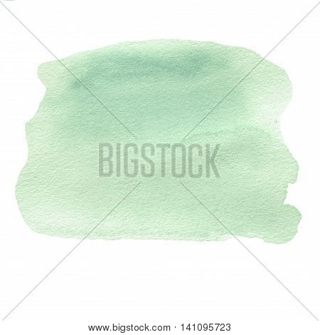 Green watercolor abstract background for your design. Abstract Painted texture with watercolour stain.