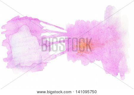 Pink Watercolor spot - Abstract hand drawn template with rough edges. Painted texture with watercolour stain.