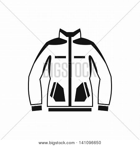 Men winter jacket icon in simple style isolated on white background. Clothing symbol