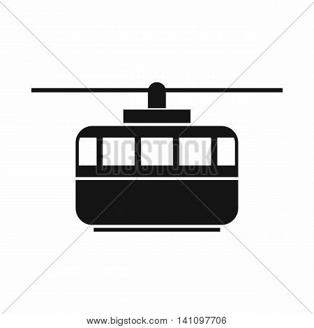 Funicular icon in simple style isolated on white background. Transportation symbol