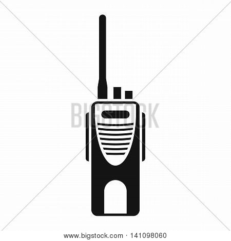 Radio transmitter icon in simple style isolated on white background. Device symbol