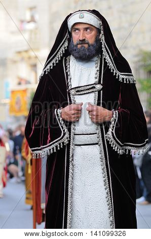 MOSTA, MALTA - APR 22 :Judean king during in the Good Friday procession in the village of Mosta in Malta April 22, 2011
