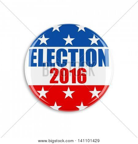 3d usa vote button on white background