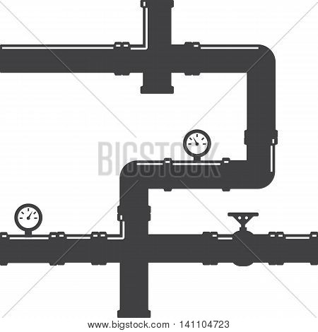 Pipes System Concept Flat Vector illustration eps10