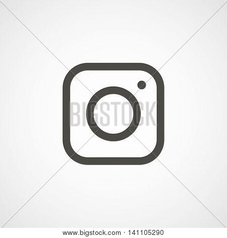 web icon of modern lineart camera. Digital application pictogram