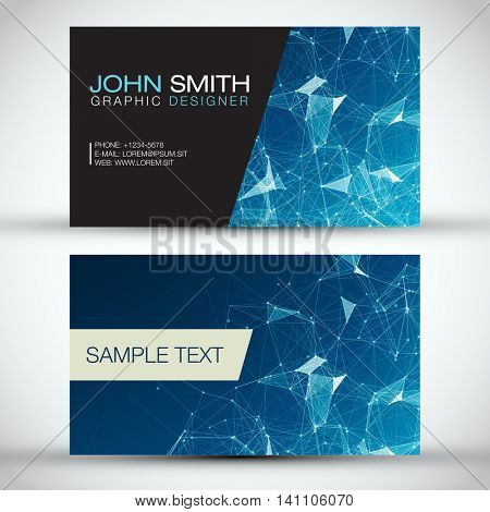 Blue Modern Business Card Set   EPS10 Vector Design