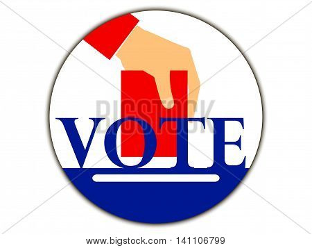 Hand With Voting Ballot. Vote. Vector Illustration.