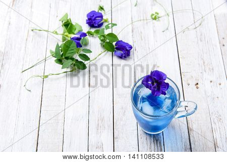 Butterfly Pea Juice With Ice