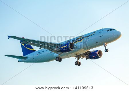 Corfu Airport, Greece - July 9, 2011: Airbus A320 Of Hello Ag At The Airport Corfu
