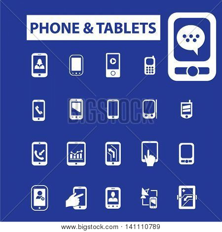phone tablets icons