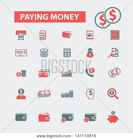 paying money icons