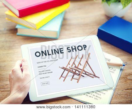 Shopping Online Shopaholics E-Commerce E-Shopping Concept
