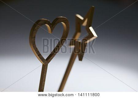 magic wand and heart