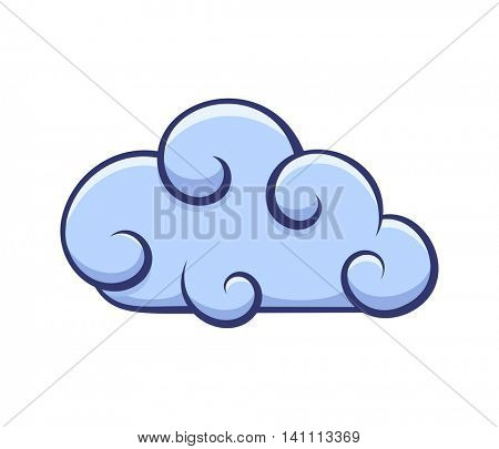 Blue cloud icon. Vector illustration