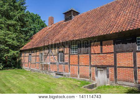 Old Barn At The Saline Gottesgabe Salt Mine In Rheine