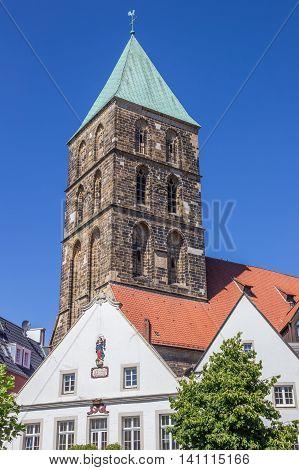 Tower Of The Dionysius Church In Rheine