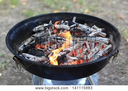Burning Wood In Barbecues
