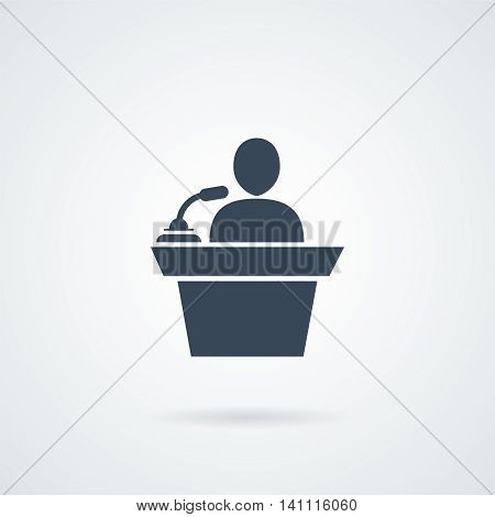 Speaker Icon with a shadow vector illustration