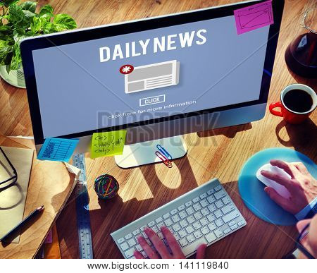 Daily News Newsletter Announcement Concept