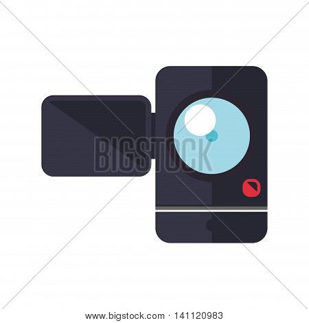 videocamera gadget technology photography icon. Isolated and flat illustration. Vector graphic